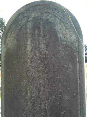 Thomas Dobie's Grave Headstone at Smythesdale General Cemetery, Victoria